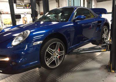 Porsche 911 Turbo 997 Servicing at STR Service Centre, Norwich