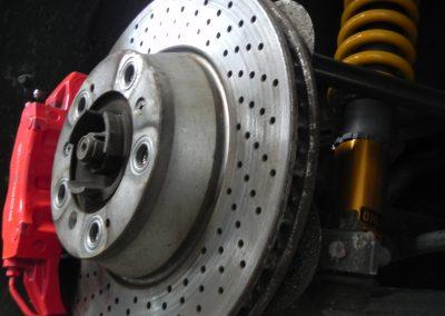 Porsche 997 Brake Hub and Suspension Upgrade at STR Service Centre, Norwich
