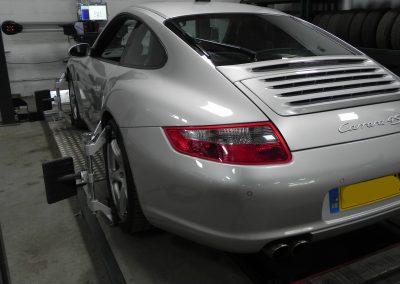 Porsche Carrera 4S 4 Wheel Alignment at STR Service Centre, Norwich