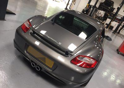 Porsche Cayman S at STR Service Centre, Norwich